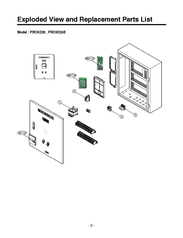 LG PRCKD20[E] PRCKD40[E] Service Manual download